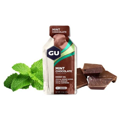 GU Energy 32 g Gel-mint chocolate 1 SÁČEK (balení 24ks)